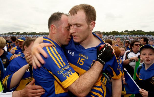 Eoin Kelly and Lar Corbett celebrate