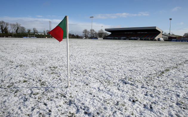 A view after the match was called off due to an unplayable pitch