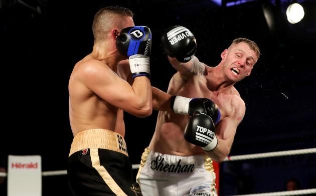 Roy Sheahan in action against Vladimir Belujsky