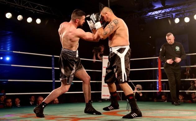 Cillian Reardon in action against Richard Hegyi