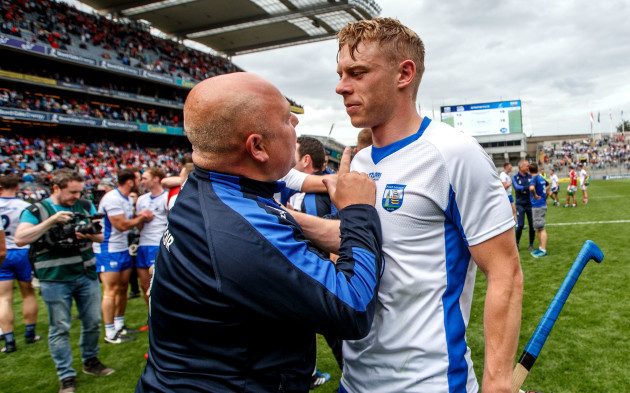 Derek McGrath celebrates with Philip Mahony