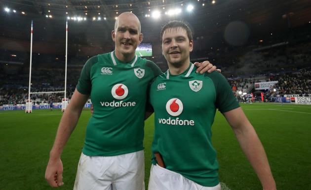 Ireland's Devin Toner and Iain Henderson