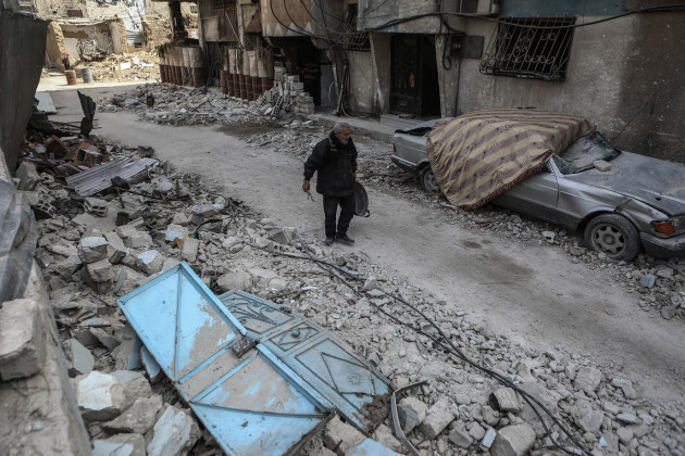 Destruction in Douma