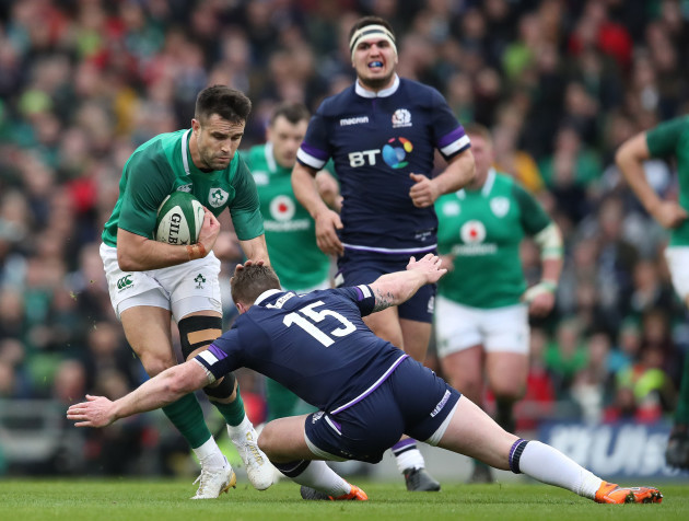 Conor Murray and Stuart Hogg
