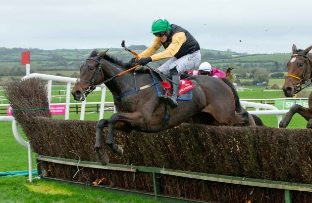 Barry O'Neill on Shantou Flyer clears the last to win
