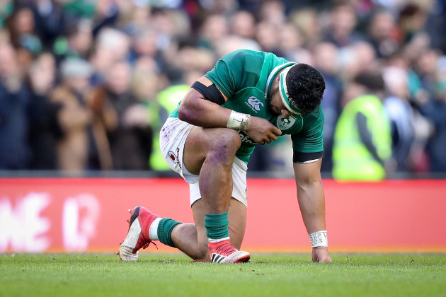 Bundee Aki after the game