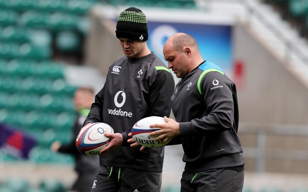 Jonathan Sexton and Rory Best