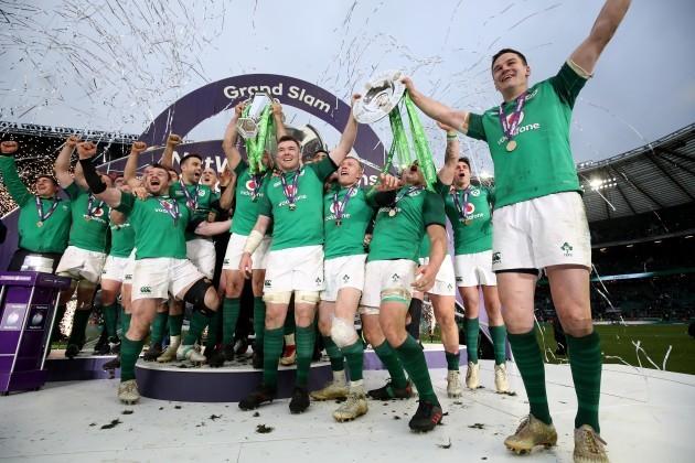 Ireland celebrate winning the Grand Slam