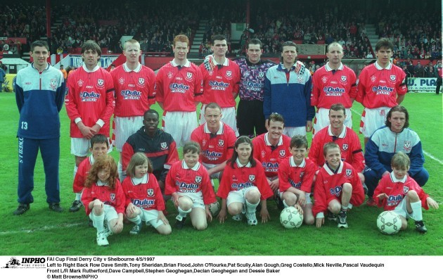 Shelbourne Team FAI Cup Final 4/5/1997