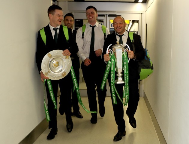 Jonathan Sexton, Rory Best, James Ryan and Conor Murray