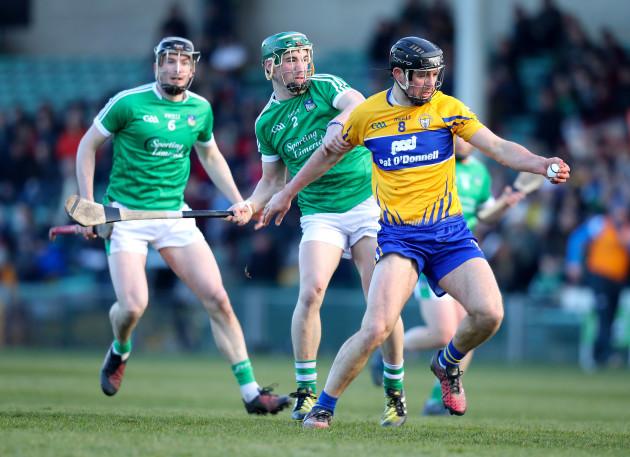 Sean Finn tackles Cathal Malone