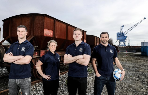 Jonathan Sexton, Rachael Burford, Jamie Heaslip and Conrad Smith