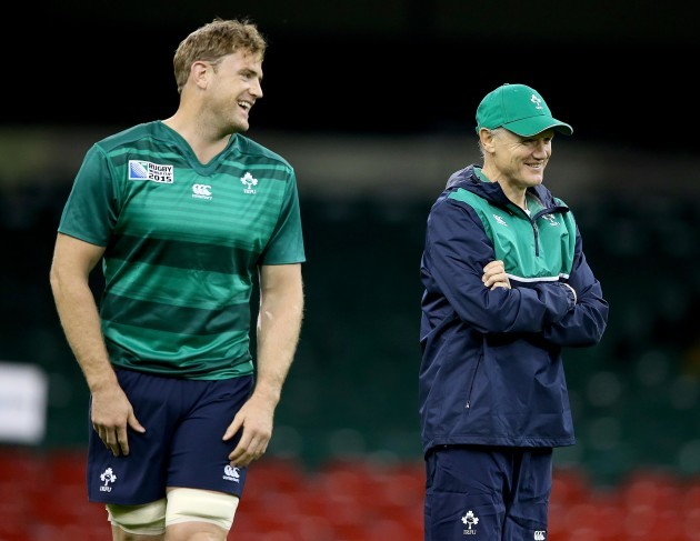 Joe Schmidt with Jamie Heaslip