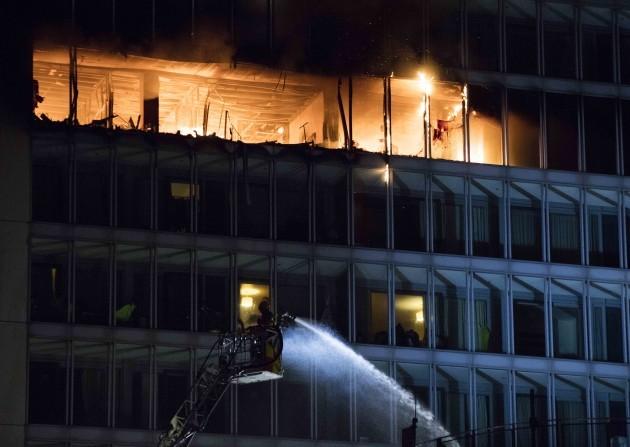 21/3/2018. Metro Hotel Fire Ballymun. Photo: Eamonn Farrell/RollingNews.ie