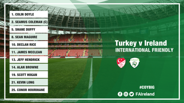Ireland team Turkey