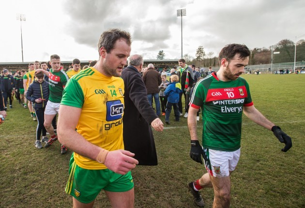 Michael Murphy dejected at the end of the game