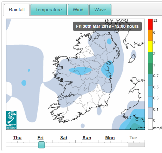 Saturday's weather: Mainly dry and bright, with scattered showers