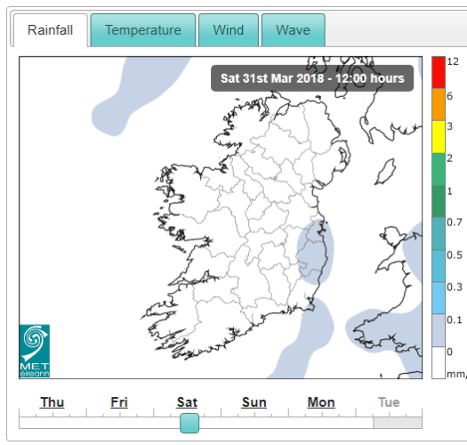 Heavy rain, sleet and snow for Easter weekend