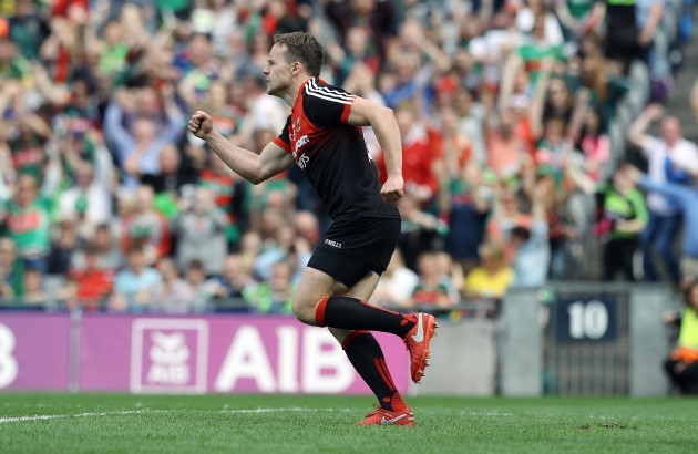 Mayo's Andy Moran celebrates after scoring a goal