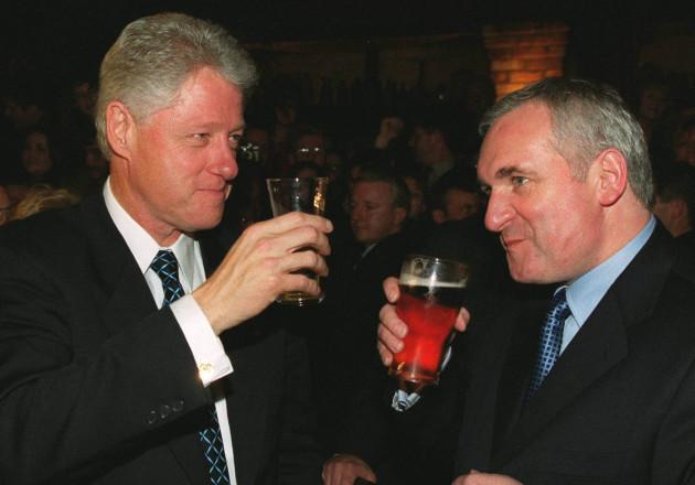 US Clinton & Ahern toast