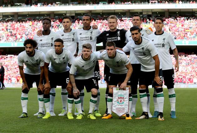 The Liverpool team
