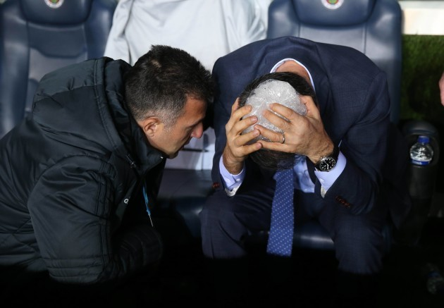 Besiktas coach wounded by projectile, derby abandoned