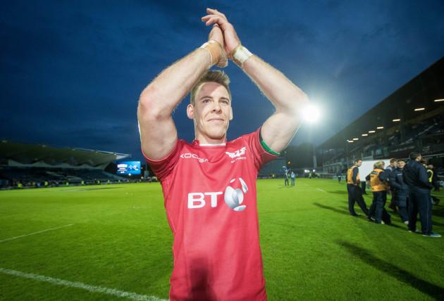 Liam Williams celebrates