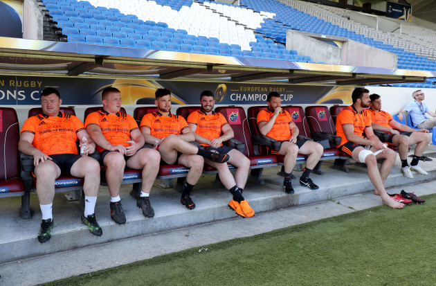 Dave Kilcoyne, John Ryan, Conor Oliver, Sam Arnold, Stephen Archer, Jean Kleyn and Dave O'Callaghan