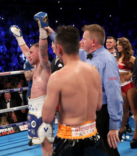 Carl Frampton is declared the winner