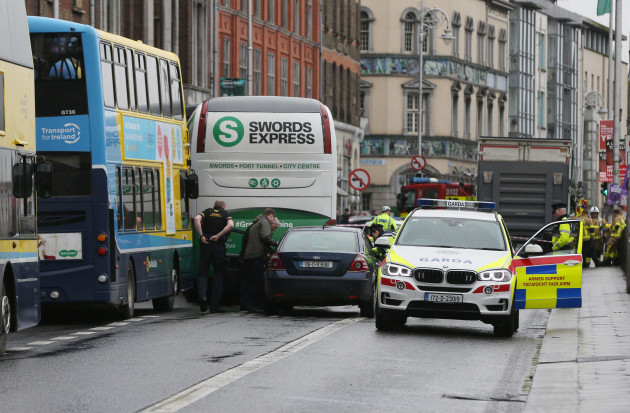 Garda auto one of four vehicles in serious crash on Dublin's quays