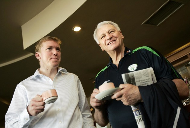 Steve Staunton and Bobby Robson