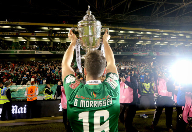 Gearoid Morrissey celebrates with The Irish Daily Mail FAI Cup