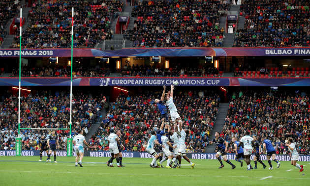 Devin Toner and Donnacha Ryan during a line out