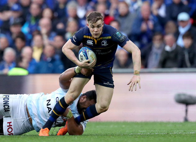 Garry Ringrose is tackled by Census Johnston