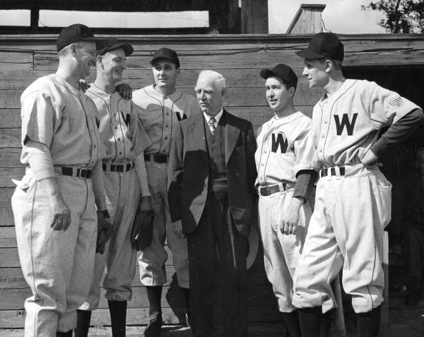 Clark Griffith with Senators Group