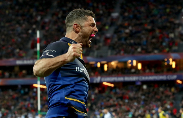 Rob Kearney celebrates at the final whistle