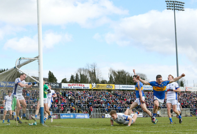 Liam McGrath scores his sides second goal