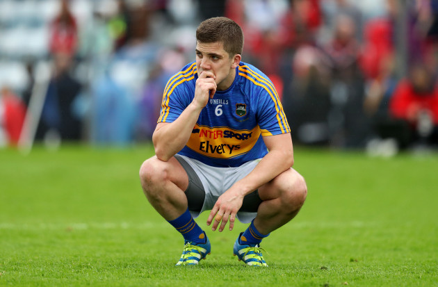 Robbie Kiely dejected after the game