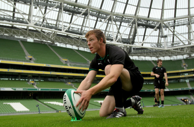 Jonathan Holland lines up a kick