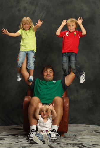Tony Buckley with his children Aidan, Ella and Alice