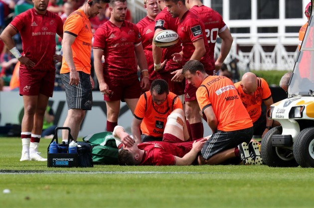 Jack O'Donoghue treated for an injury
