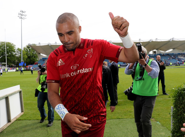 Simon Zebo after the game