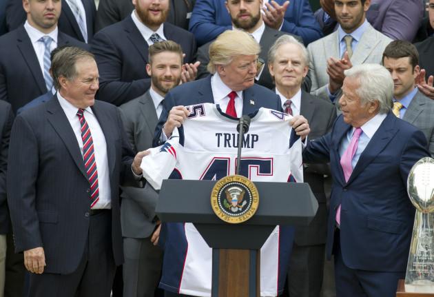DC: Trump Welcomes New England Patriots