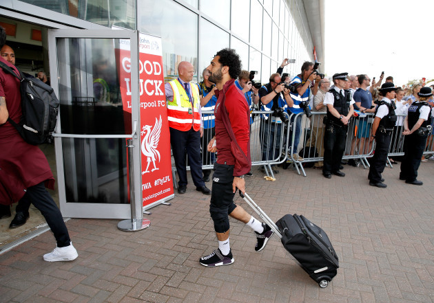 Liverpool FC depart for Kiev