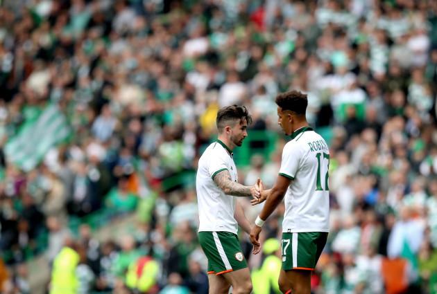 Sean Maguire and Calum Robinson