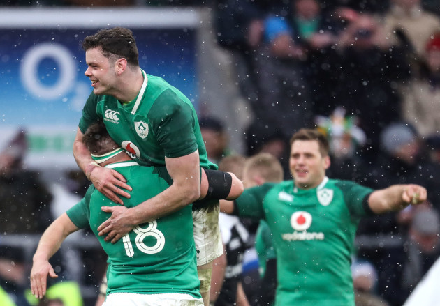 Andrew Porter and James Ryan celebrate winning