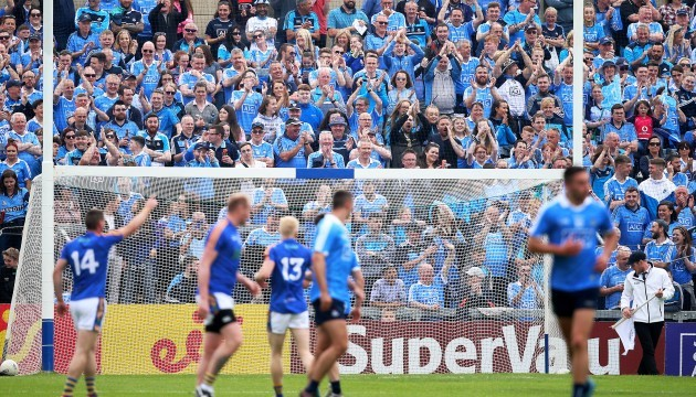 Dublin fans applaud Wicklow's first point