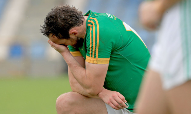 Graham Reilly dejected at the end of the game