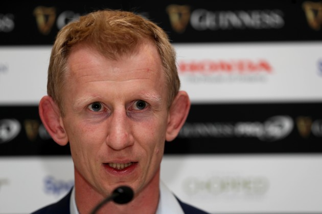 Leo Cullen during the post match press conference