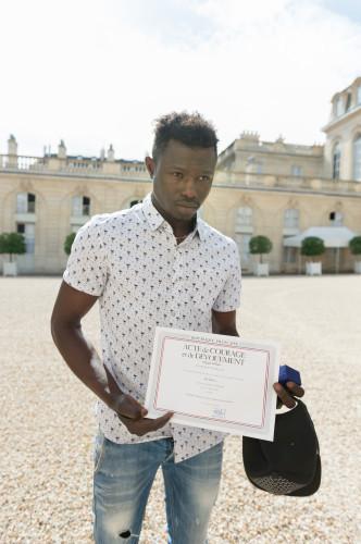 Mamoudou Gassama at Elysee Palace - Paris